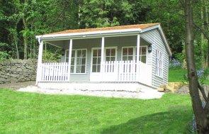 4.8 x 4.8m Garden Room in Pebble