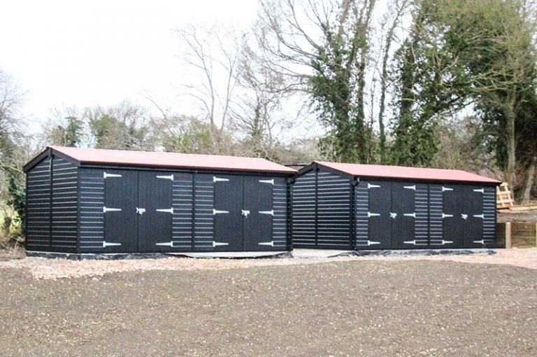 3.0 x 6.0m Superior Shed in Black paint from our exterior paint system