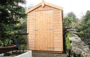 1.5 x 2.1m Classic Shed treated with a Light Oak Preservative
