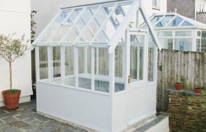 1.8 x 2.4m Greenhouse Painted in Saltwater from our exterior paint system