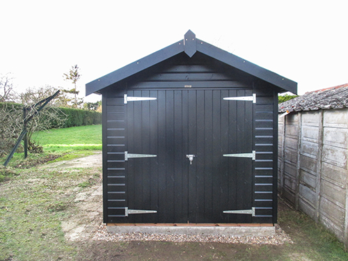 Superior Shed in Sikkens Black