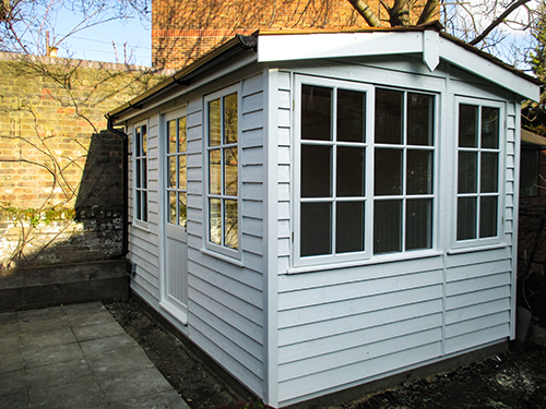 2.4 x 3.6m Langham Studio in Ivory with Double Glazed Windows and Insulation