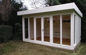 3.0 x 4.2m Salthouse Studio in Cream from our exterior paint system