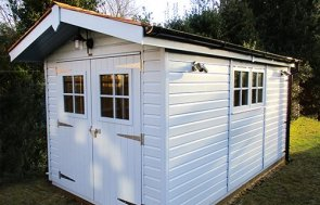 Superior Shed in Sundrenched Blue