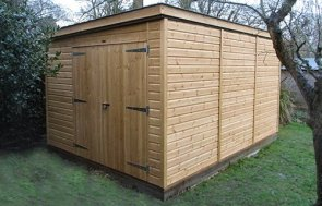 Superior Shed with Pent Roof in Light Oak