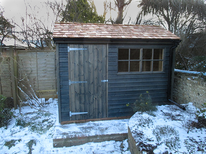 Superior Shed in Sikkens Grey
