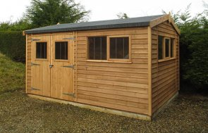 3.0 x 4.2m Superior Shed with Security Pack in Light Oak