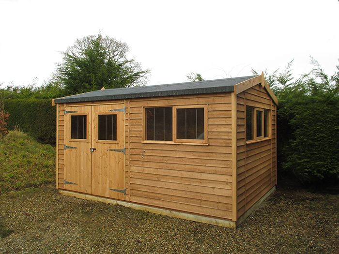 Superior Shed with Security Pack in Light Oak