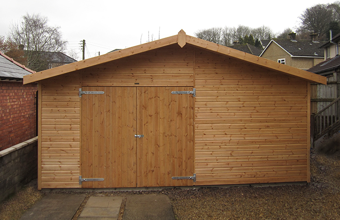 Garage in Light Oak