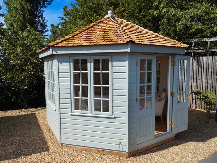 Wiveton Summerhouse in Verdigris
