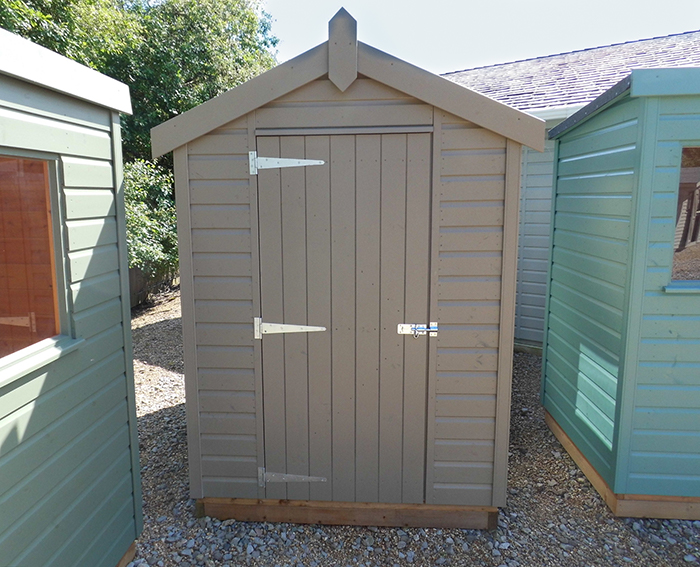 1.5 x 2.1m Classic Shed in Stone with apex roof