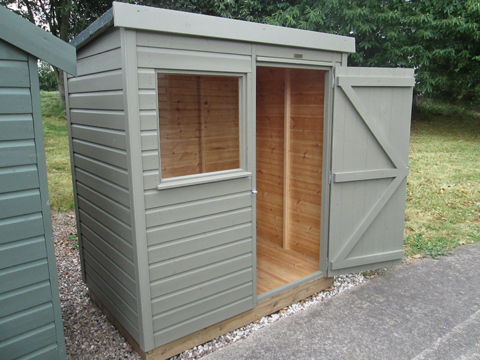 1.2 x 1.8m Classic Shed in Stone
