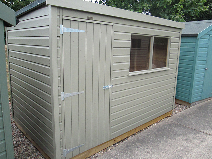 1.8 x 3.0 Classic Shed with Pent Roof and Shiplap Cladding