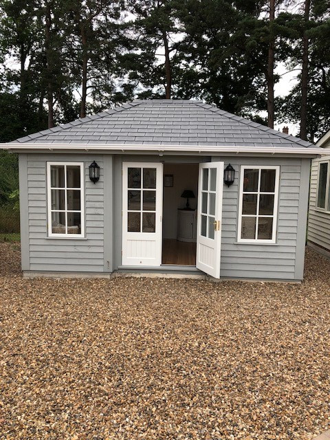 Garden Room Painted in Pebble