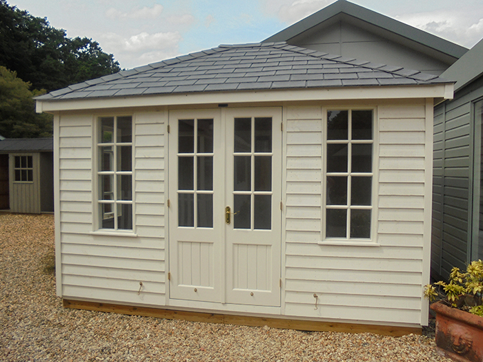 Cley Summerhouse Painted in Cream