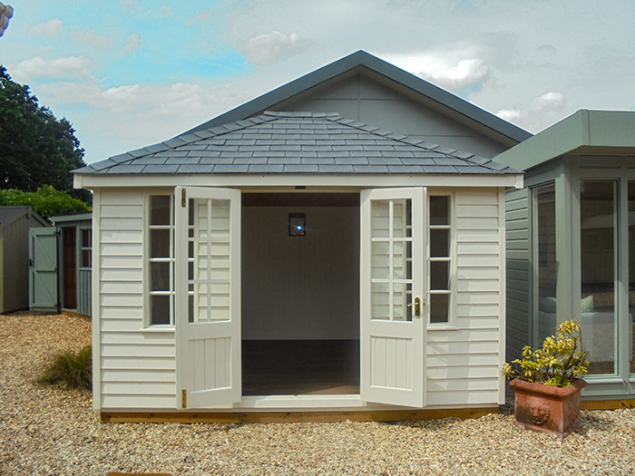 Cream painted Cley Summerhouse