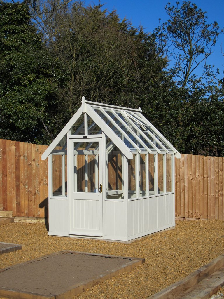 Sandstone painted 1.8 x 2.4m Greenhouse