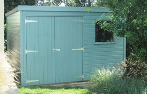 Classic Shed in Mint Pent Roof