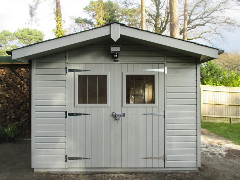 Superior Shed with Overhanging Apex Roof and a Security Pack
