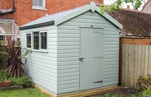 Superior Shed in Verdigris