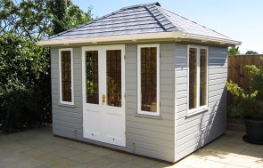 Cley Summerhouse with White Guttering