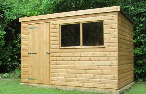 1.8 x 3.0m Classic Shed with Pent Roof covered in Heavy Duty Roofing Felt