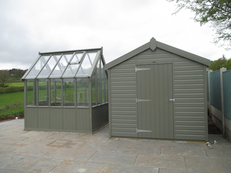 Superior Shed and Greenhouse 2.4x2.4m 1.8x2.4m Ash