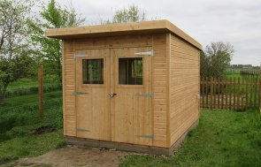 Superior Shed in Light Oak