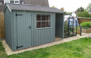 1.8 x 3.6m National Trust Blickling Shed in Terrace Green