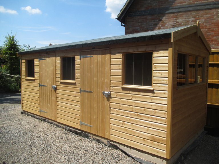 Superior Shed with Two Single Doors
