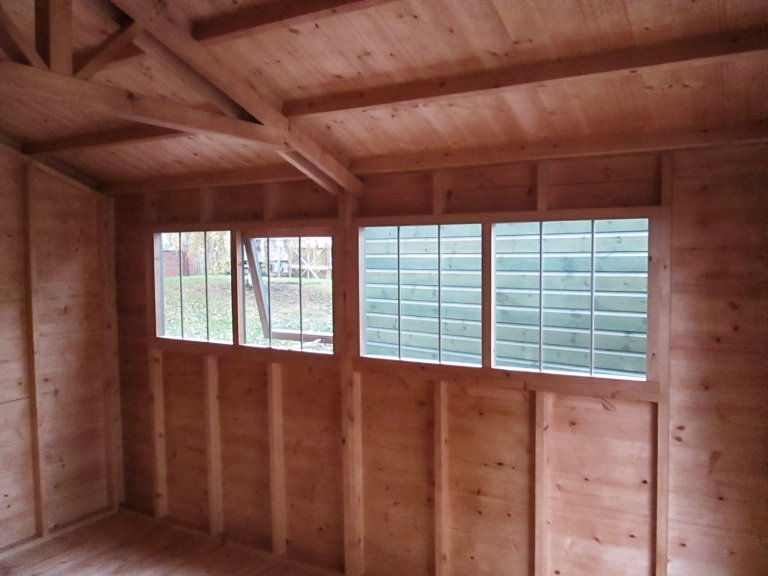Superior Shed Interior with no lining