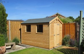 2.4 x 3.0m Classic Shed with shiplap cladding and an apex roof