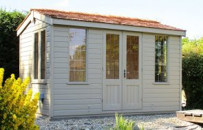 Holkham Summerhouse in Twine with Shiplap Cladding