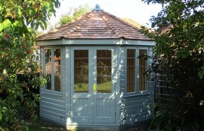 3.0 x 3.0m Wiveton Summerhouse with Natural Matchboard Lining and Leaded Windows