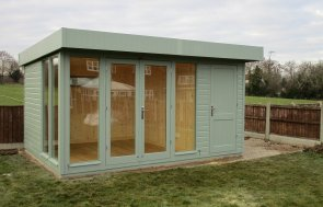 3.0 x 4.2m Salthouse Studio with Natural Matchboard internal lining