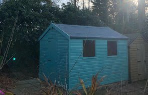 Classic Shed in Mint Exterior Paint
