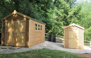 Matching Superior Sheds in Light Oak