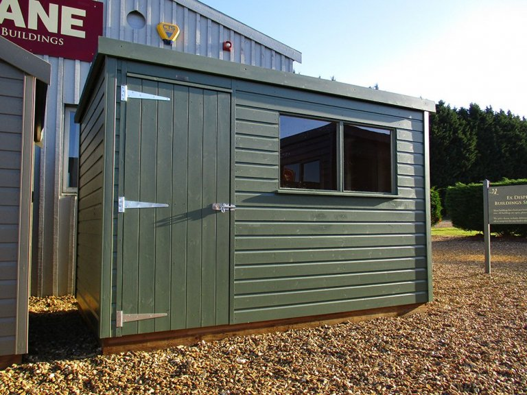 Pent Classic Shed in Moss
