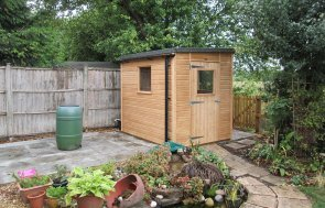 Light Oak 1.8 x 2.4m Superior Shed with Pent Roof