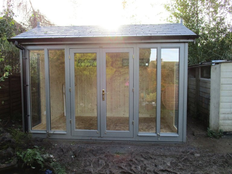 2.4 x 3.6m Burnham Garden Studio with Natural Matchboard Pine Lining