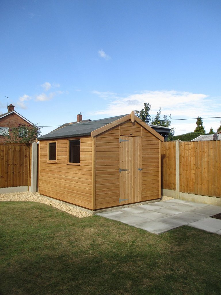 2.4 x 3.0m Classic Shed in Light Oak