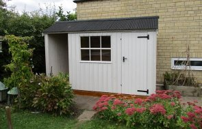 1.8 x 3.6m Blickling National Trust Shed In Earls Grey