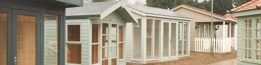 Pavilion Garden Room, Studios and Summerhouses installed at Cranleigh Show Site