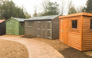 Selection of Superior Sheds at Cranleigh Show Site