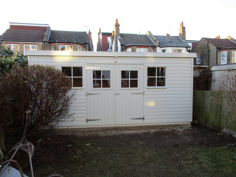 Timber Garden Shed with Symmetrical Design