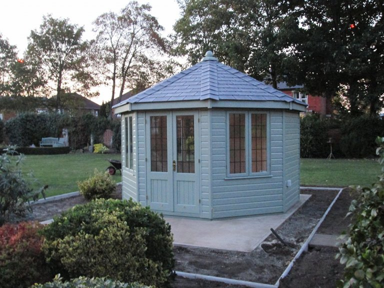 Octagonal Timber Summerhouse with Slate Roof