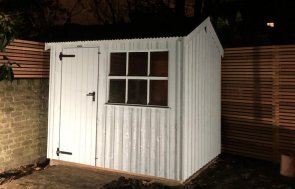 1.8 x 2.5m National Trust Felbrigg Shed in the colour Painters Grey