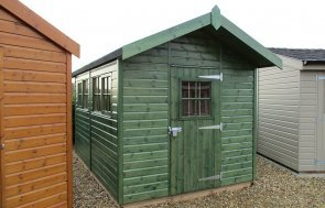 Superior Shed in Sikkens Green Narford Display