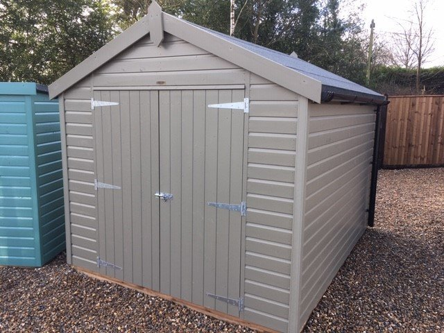 Classic Shed with Double Doors in Stone