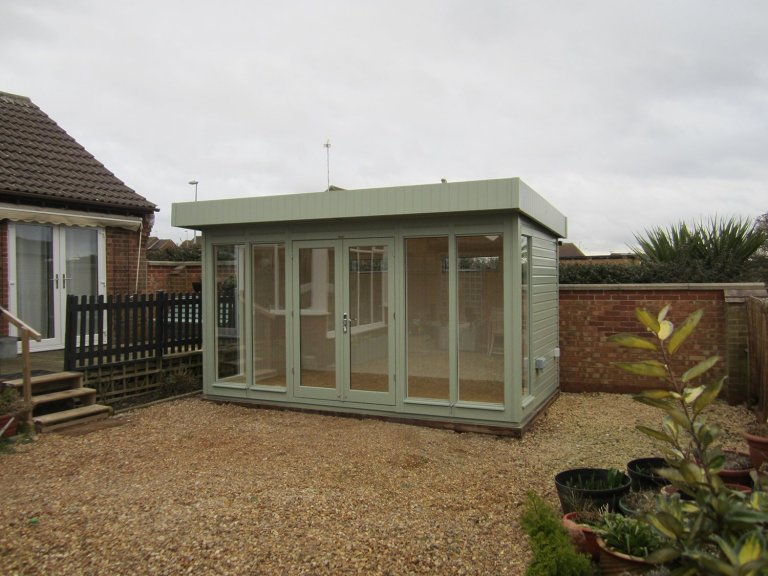 Salthouse Garden Studio with external Shiplap Cladding and Farrow & Ball Interior